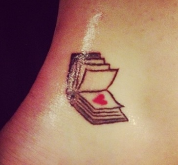 book a love heart tattoo