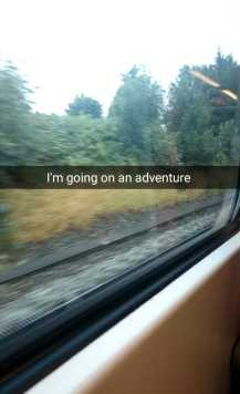 Going on an adventure - train picture